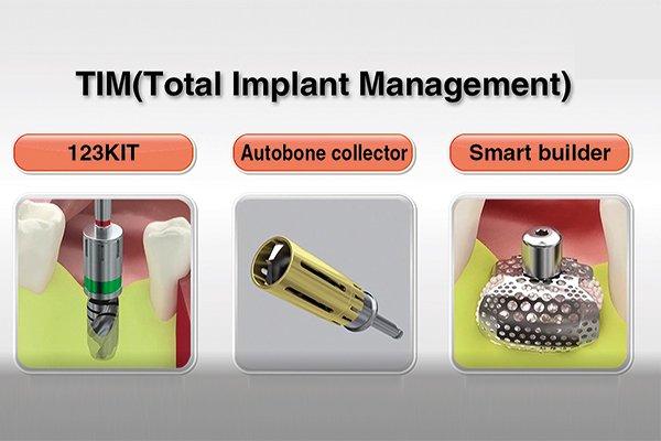 Установка TSIII и НКР с  использованием аутогенной кости и мембраны SmartBuilder