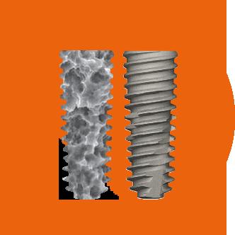 Поверхность имплантатов Osstem